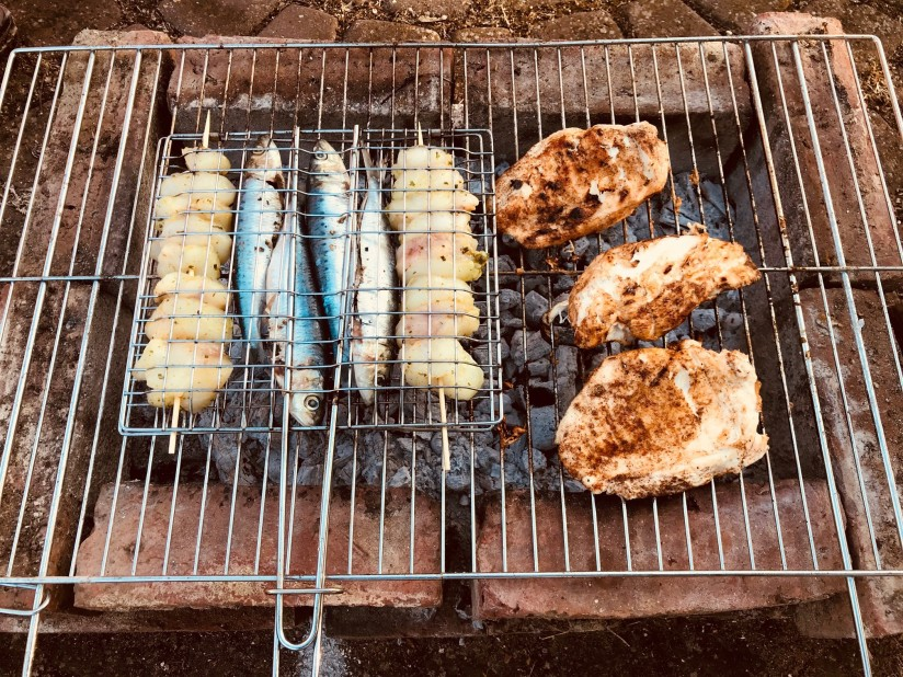 BBQ fish & Chicken